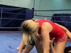 Wrestling lesbos sixtynining each other