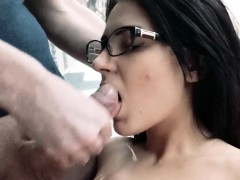 Bella Beretta Wears her Glasses and gets Pounded
