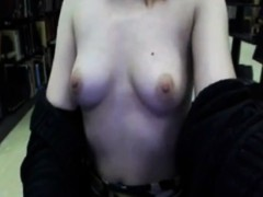 Sexy Hot Teen Masturbates Pussy In Library On Webcam