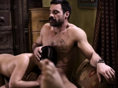 Nasty stepdaughter fucks her stepdad in a threesome