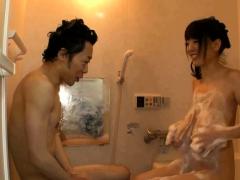 impressive big tits asian in the bath