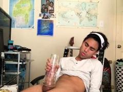 Hung Latino Lucas Beating Off