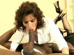 Sonia Sucks Off Big Black Stud Cock