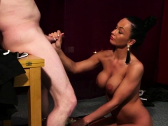 Frisky Model Gets Jizz Load On Her Face Swallowing All The L