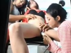 Lesbian Licking Friends Pussy