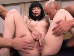 Two Older Guys Pound Hina Maeda - More at Pissjp.com
