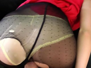 POV cocksucking beauty banged by old man