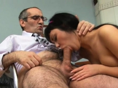 Petite sweetheart is getting doggy position sex from teacher