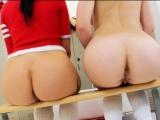 Schoolgirl Anal Play in the lockerroom