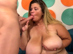 Big Boobed Bbw Shows Her Giant Tits And Fat Ass She Rubs
