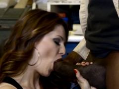 Black Guy Fucks White Wife with Husband in room
