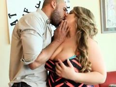 Big Tit BBW MILF Veronica Gags on Huge Latino Cock