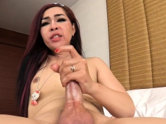 Stunning Ladyboy Gets Her Asshole Screwed On The Bed