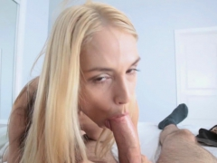 Stepmom joined stepson jerking off until he cums