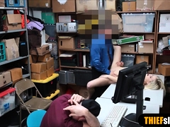 Blonde Teen Thief Fucked Next To Her Bf By A Lp Officer