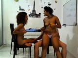 Interracial Ebony Banged Threesome