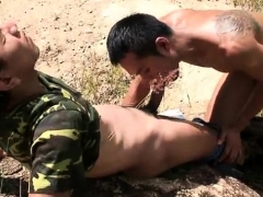 Asian Twinks Threesome With Cumshot