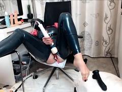 Fetish Wife Masturbation In Latex