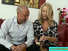 Mature couple invite sexy friend to play