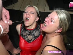 german amateur gangbang creampie party with nasty girls