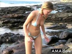Carli On The Beach