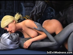 3d Blonde Fucked By Horny Creatures!