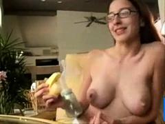 girl milf homemade long nipple breast pump lactating