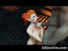 3D Evil Ogres Fuck Elf Princess!