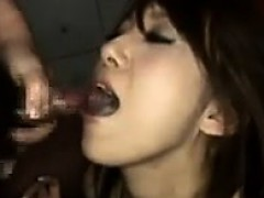 Sweet Japanese Girl Swallowing Cum