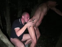 Gay blowjob and rimjob for French guys in the woods