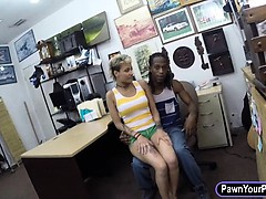 Crazy black BF pawns her hot girlfriends pussy and fucked