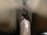 Brunette Girlfriend Taking Big Cock In Tight Pussy